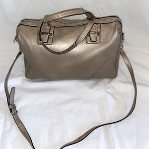 Coach Taylor Champagne Leather Satchel